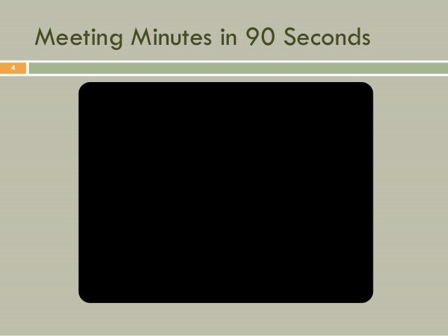 Meeting Minutes in 90 Seconds4