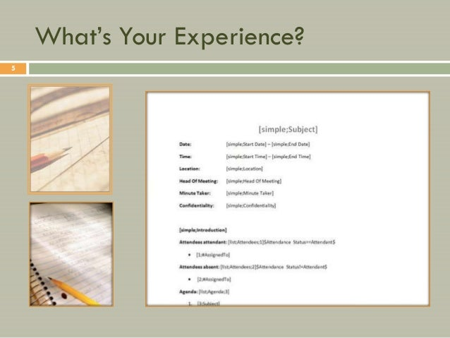 """What""""s Your Experience?5"""