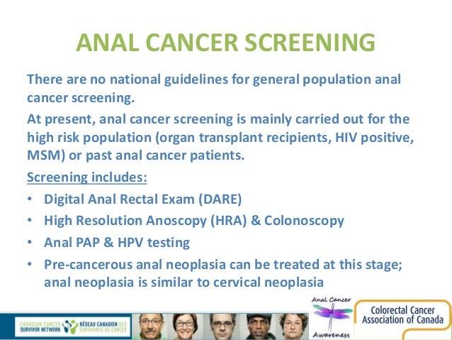 Anal cancer women hpv