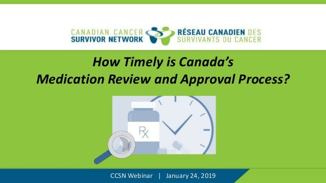 How Timely is Canada's Medication Review and Approval Process? CCSN Webinar | January 24, 2019