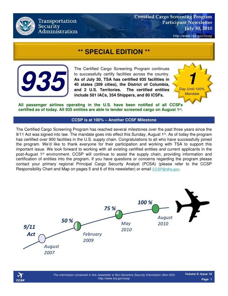 Certified Cargo Screening Program                                                                                         ...