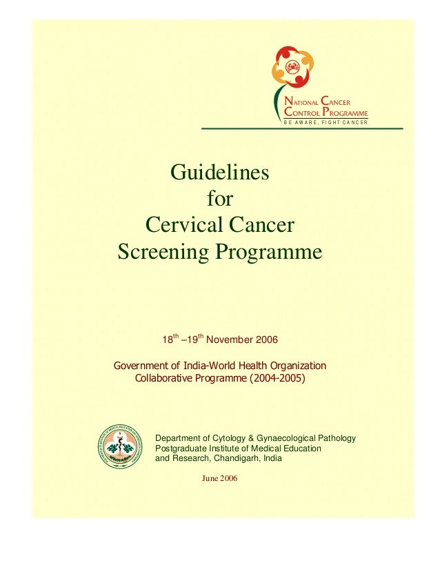 literature review on cervical cancer screening Medline abstract printer-friendly diagnostic performance of dual-staining cytology for cervical cancer screening: a systematic literature review was.