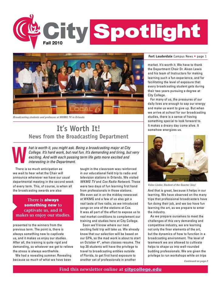 Fort Lauderdale Campus News • page 1                                                                                      ...