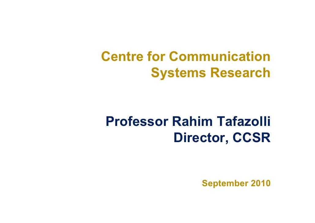 Communications Systems Research