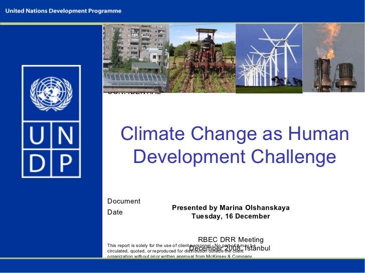 Climate Change as Human Development Challenge (UNDP presentation)