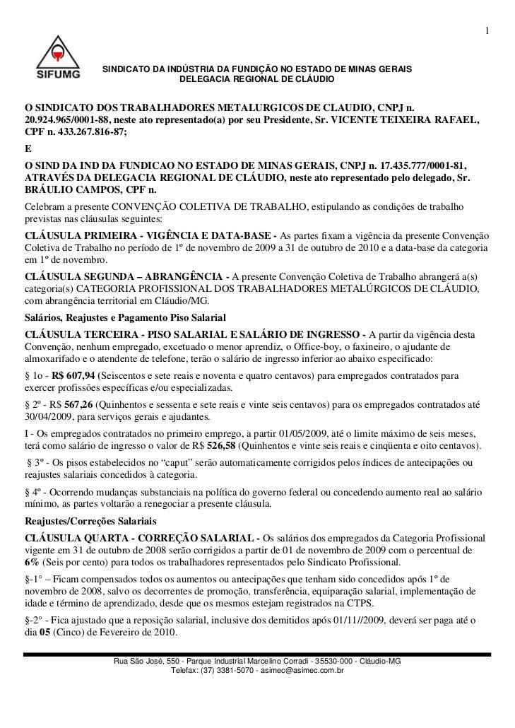 1                   SINDICATO DA INDÚSTRIA DA FUNDIÇÃO NO ESTADO DE MINAS GERAIS                                   DELEGAC...