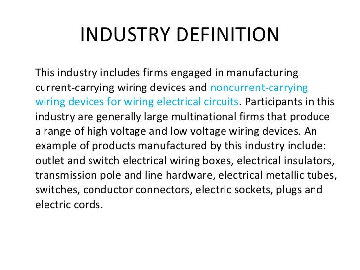FUTURE 16 INDUSTRY DEFINITION