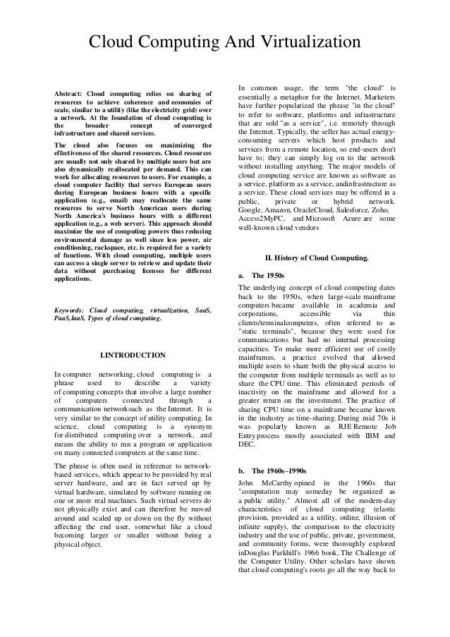 Abstract: Cloud computing relies on sharing of resources to achieve coherence and economies of scale, similar to a utility...