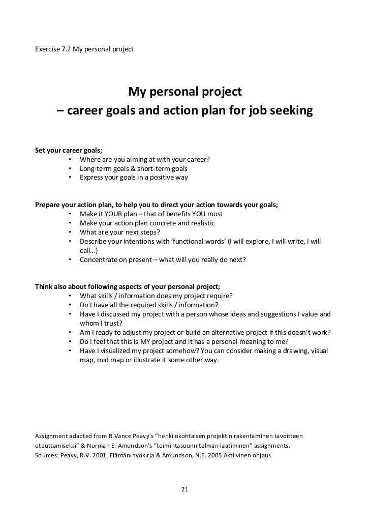 describe career goals