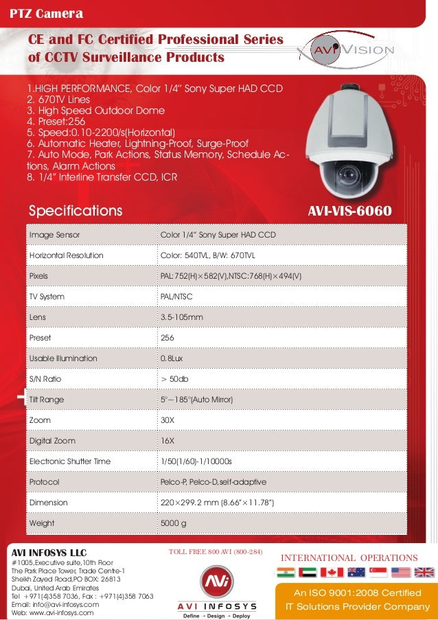 1.HIGH PERFORMANCE, Color 1/4'' Sony Super HAD CCD	2. 670TV Lines3. High Speed Outdoor Dome4. Preset:2565. Speed:0.10-2200...