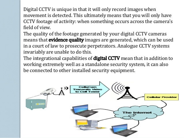 Digital CCTV is unique in that it will only record images when  movement is detected. This ultimately means that you will ...