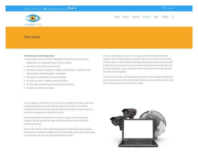 Qif  LEARNCCTV  Technical Service Management:  0 We provide Technical Service management facilities on a short term /   pr...