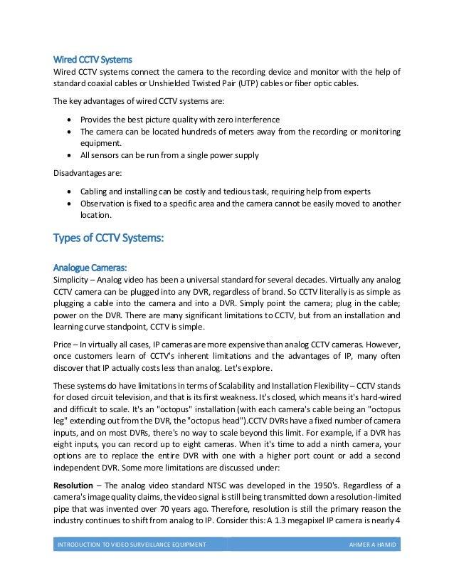 Video Surveillance Equipment (Introduction)