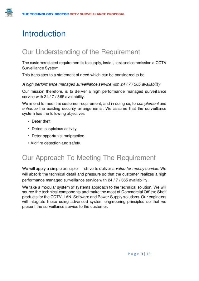 Sample Cctv Proposal Letter Gallery Download Cv Letter