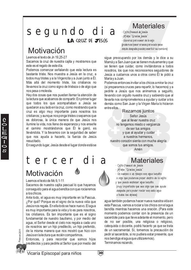 Materiales              segundo dia                                                                  - Cajita Pascual de J...