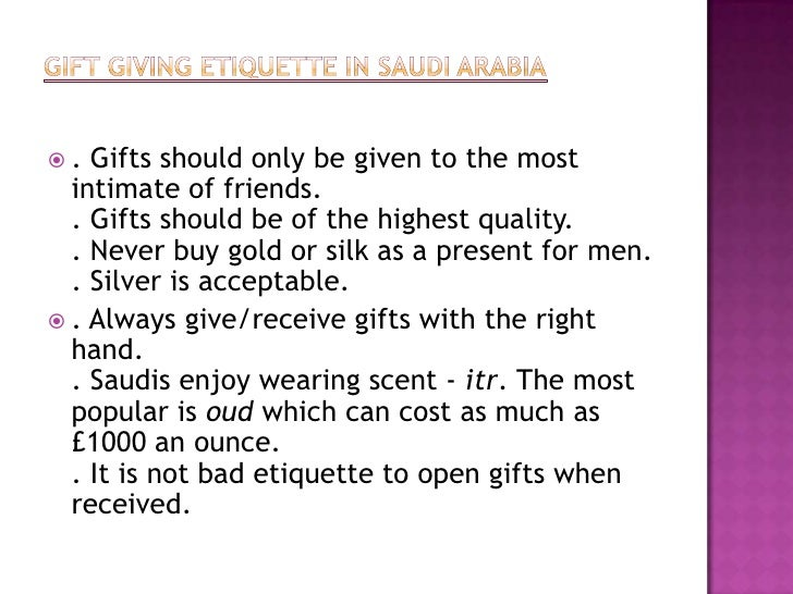gift giving etiquette canada