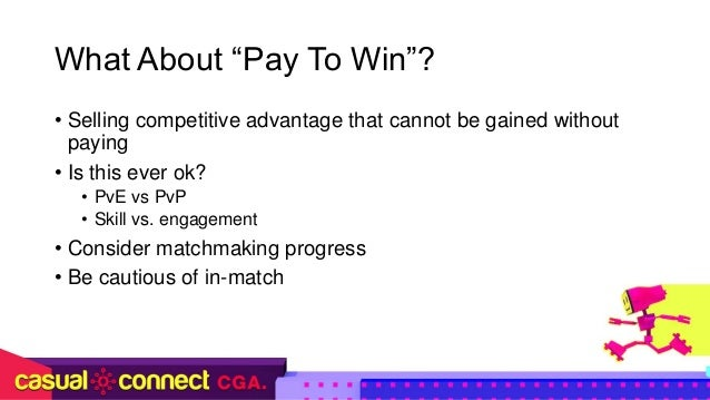 Pay to win matchmaking
