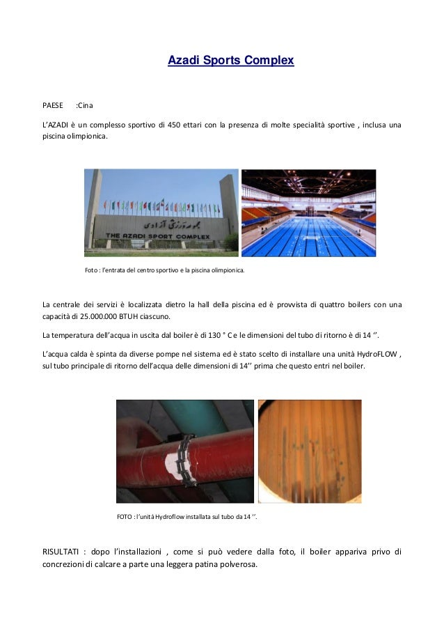 Hydropath storie di successo tecnologia anticalcare - Dimensioni piscina olimpionica ...