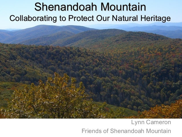 Lynn Cameron Friends of Shenandoah Mountain Shenandoah MountainShenandoah Mountain Collaborating to Protect Our Natural He...