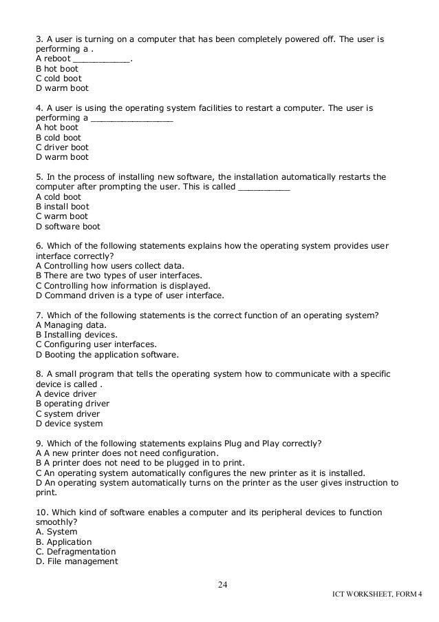 Cd Ict Worksheet La2 Form 4