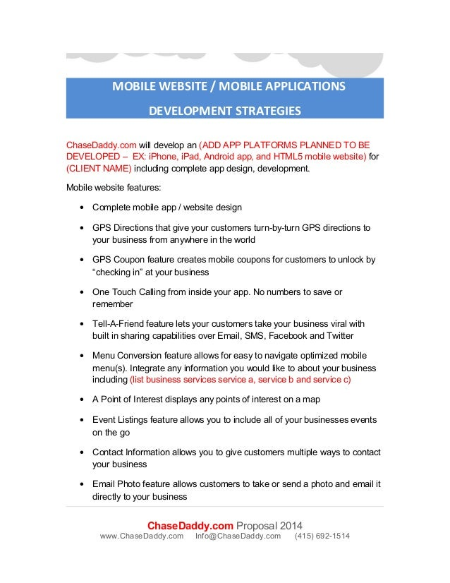Mobile App Development Proposal Images Proposal Template Design