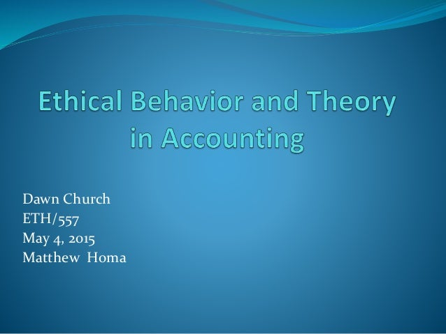 analyzing ethical behavior
