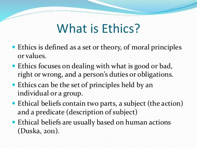 Week 1 Ethical Behavior and Theory in Accounting