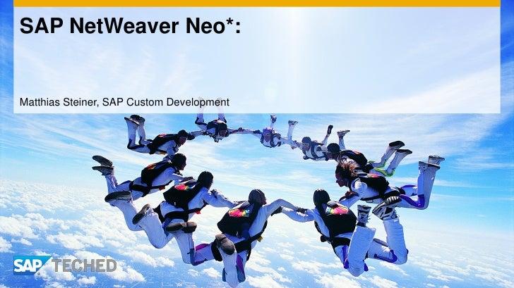 SAP NetWeaver Neo*:Matthias Steiner, SAP Custom Development