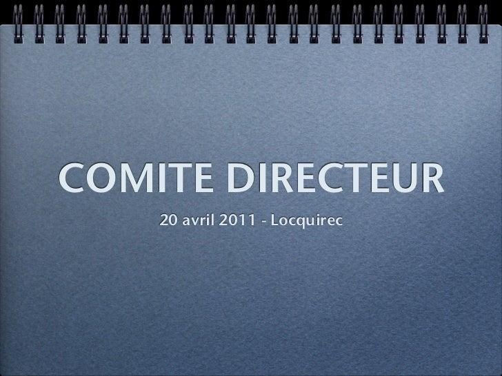 COMITE DIRECTEUR    20 avril 2011 - Locquirec