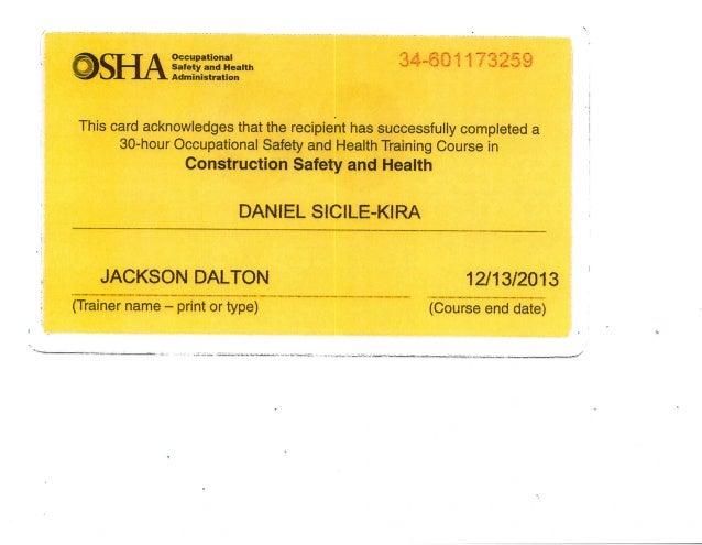 certificate osha slideshare upcoming