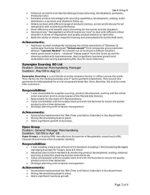 Merchandiser Job Description Combination Visual Merchandiser