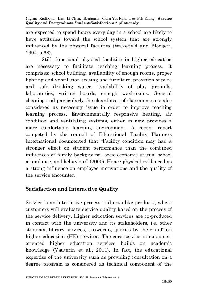 The students' intentions and satisfaction with the field of study and university