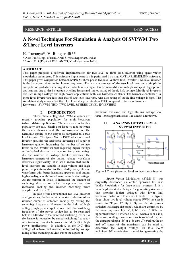 K. Lavanya et al. Int. Journal of Engineering Research and Application www.ijera.com Vol. 3, Issue 5, Sep-Oct 2013, pp.455...