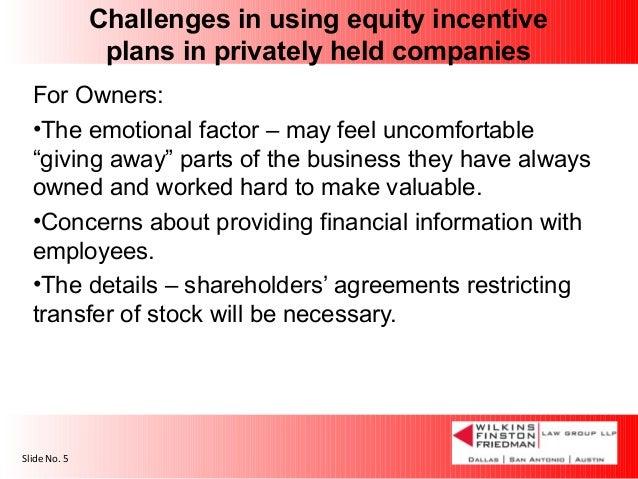 Incentive stock options non-public company