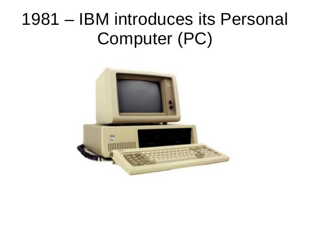 timeline of computing history