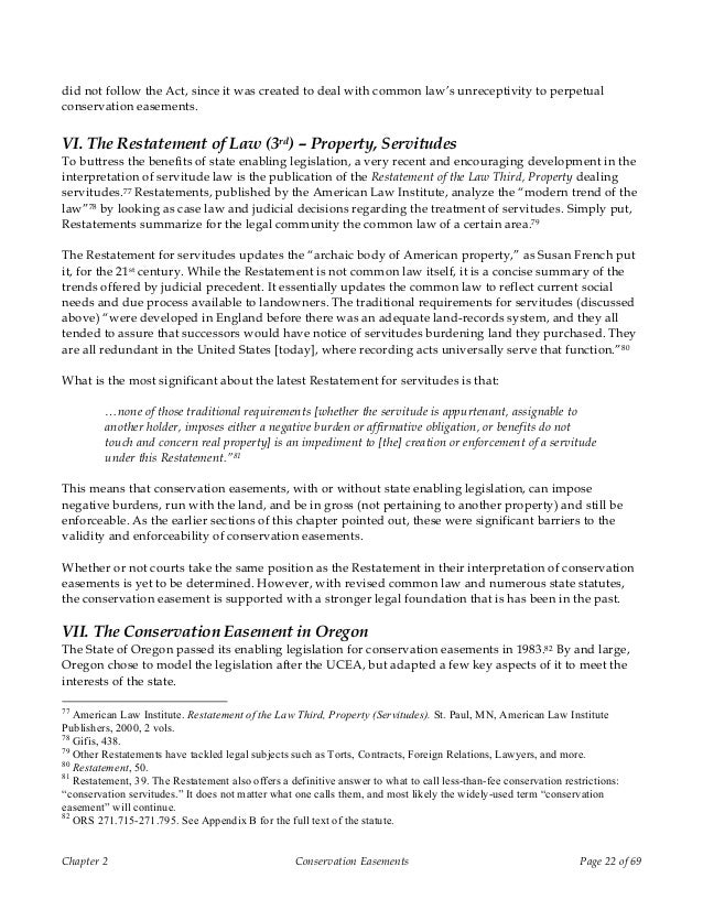 Conservation easements and Oregon's land use program