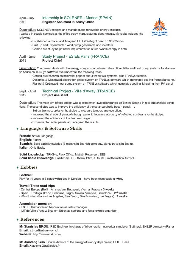 Attractive Fluent In Spanish And English Resume Pictures - Best ...