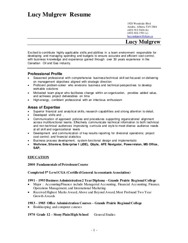 Lucy Resume