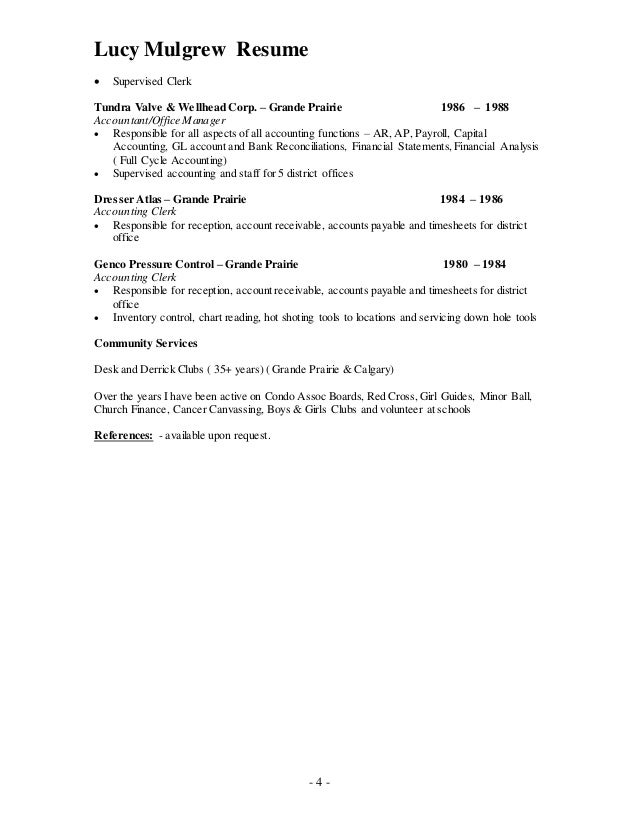 Best Calgary Accounting Resume Pictures - Best Resume Examples and ...