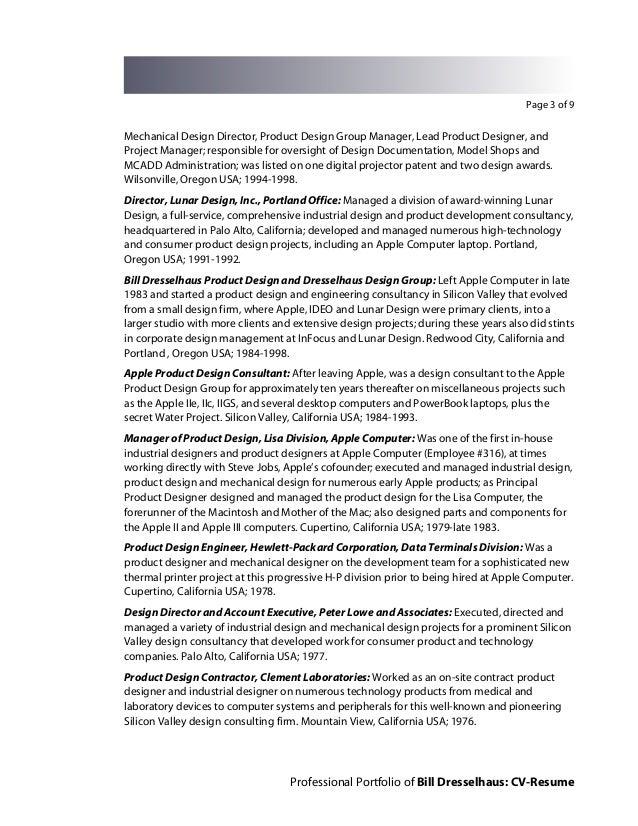 Bill Dresselhaus CV-Resume