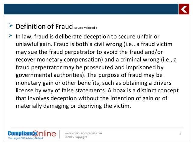 fraud format