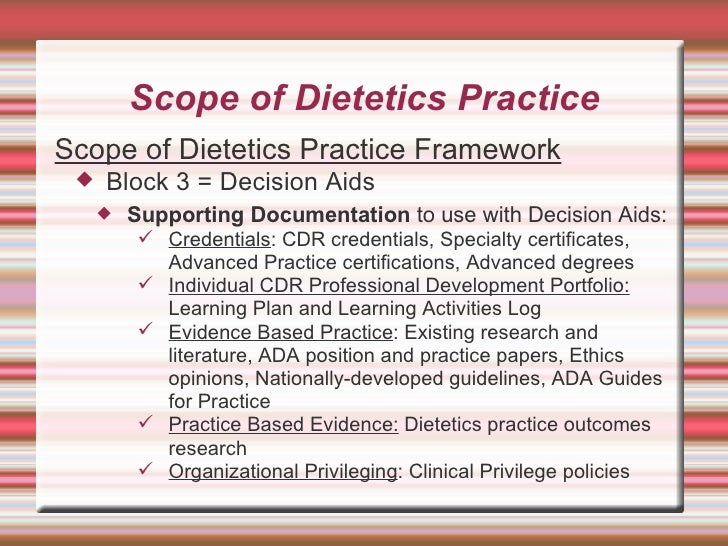 Scope Of Dietetics Practice Framework | All Articles about Ketogenic Diet