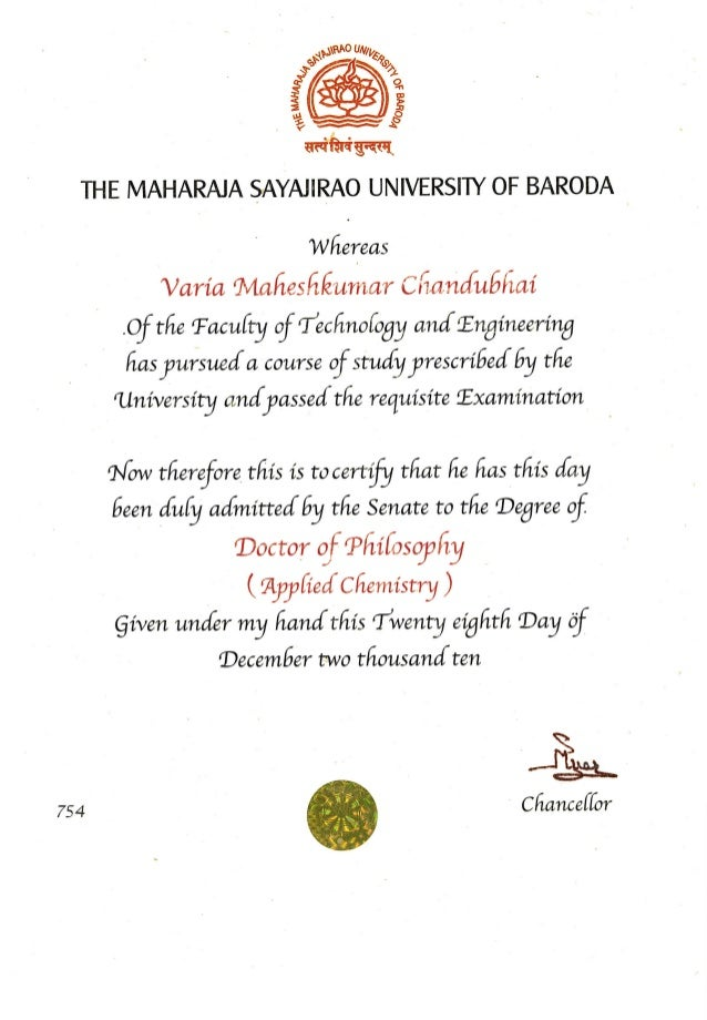 gallery of doctorate degree certificate template