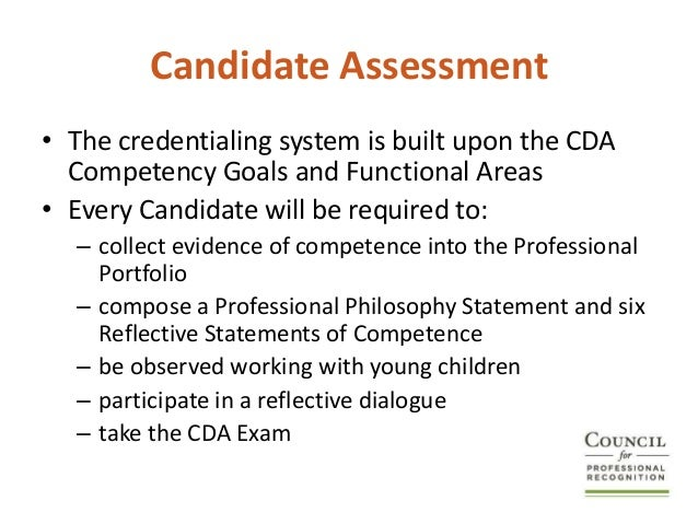 cda competence goals Cda professional portfolio julie james  goals: to expose children  advance physical & intellectual competence.