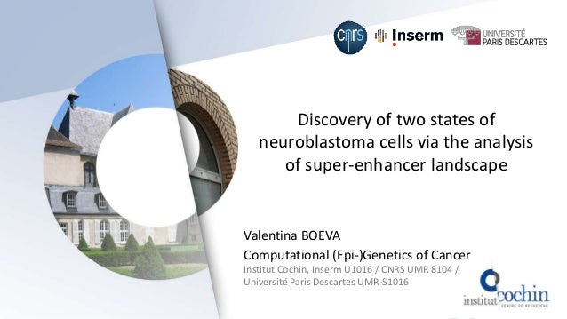 Discovery of two states of neuroblastoma cells via the analysis of super-enhancer landscape Valentina BOEVA Computational ...