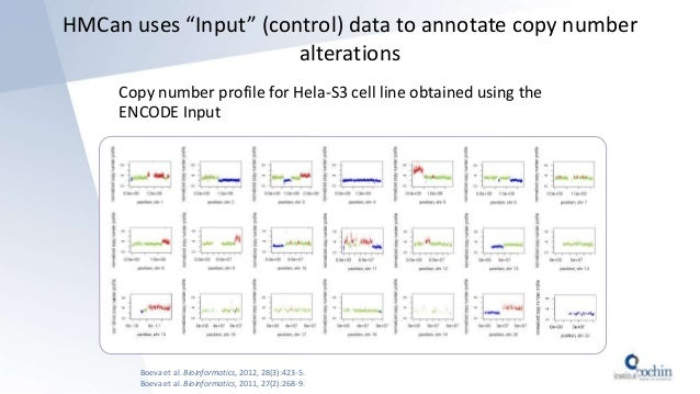 """HMCan uses """"Input"""" (control) data to annotate copy number alterations Copy number profile for Hela-S3 cell line obtained u..."""