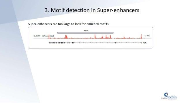 3. Motif detection in Super-enhancers Super-enhancers are too large to look for enriched motifs