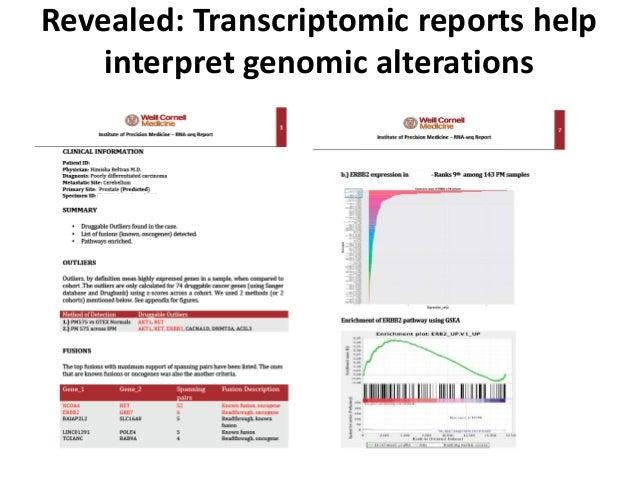 Revealed: Transcriptomic reports help interpret genomic alterations