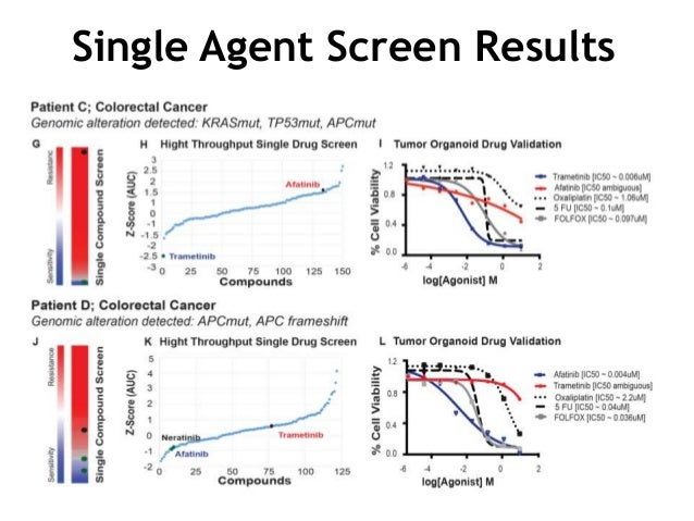 Single Agent Screen Results
