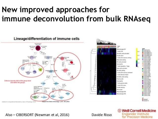 New improved approaches for immune deconvolution from bulk RNAseq Also – CIBERSORT (Newman et al, 2016) Davide Risso